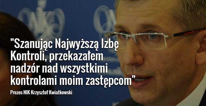 Krzysztof Kwiatkowski, prezes NIK
