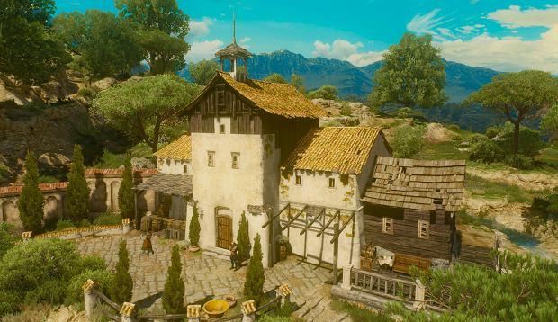 Screen z dodatku 'Krew i Wino' do 'Wiedźmin 3: Dziki Gon' - Corvo Bianco, posiadłość Geralta