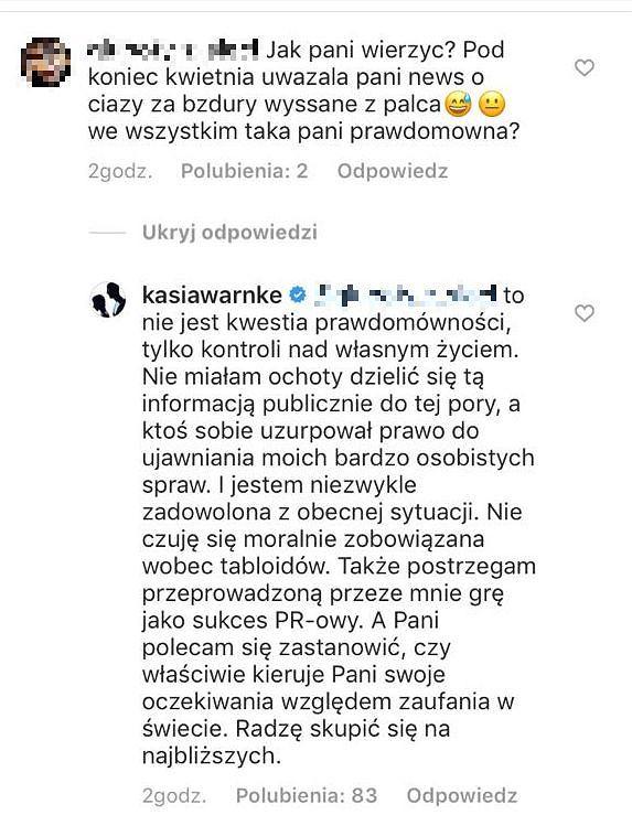 Katarzyna Warnke o ciąży