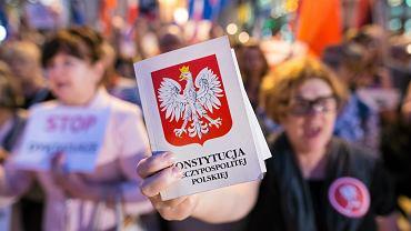 Protest przeciwko reformie sądów w Lublinie w 2017 roku.