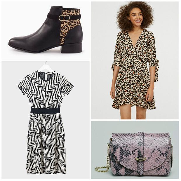 Od lewej:  góra: buty Promod 229,90 zł, sukienka Stefanel 129 zł, sukieka H&M 79,90 zł, torebka answear 119,90 zł