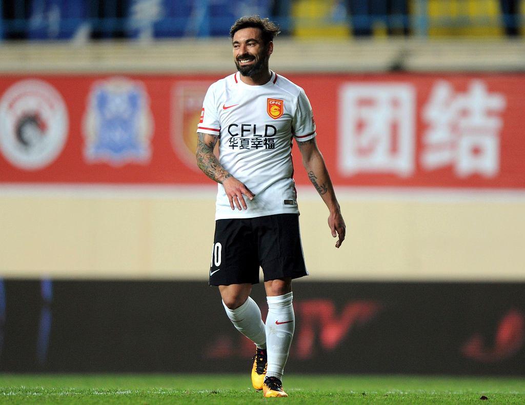 Ezequiel Lavezzi w barwach chińskiego Hebei China Fortune