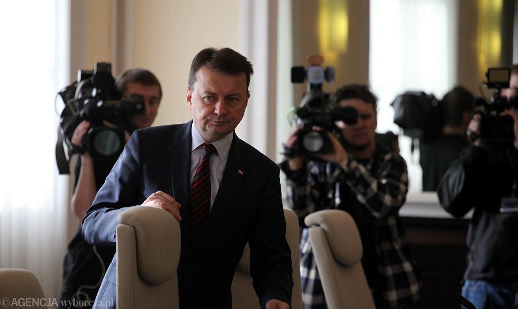 Szef MSWiA w rządzie PiS Mariusz Błaszczak