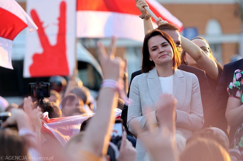 Swietłana Cichanouska w Warszawie