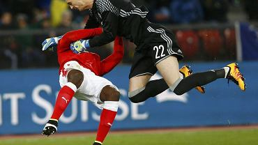 Szwajcaria - Bośnia i Hercegowina 0:2. Jasmin Burić z Lecha Poznań i Breel Embolo