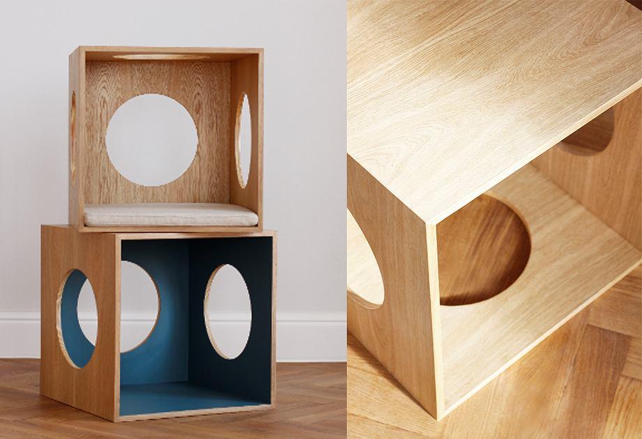 Drewniany domek dla kota Smoof