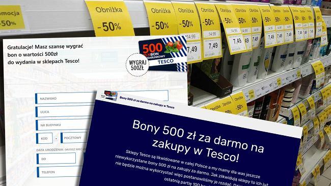 Bon na 500 zł od Tesco z okazji likwidacji sklepów? Sieć nie ma z tym nic wspólnego