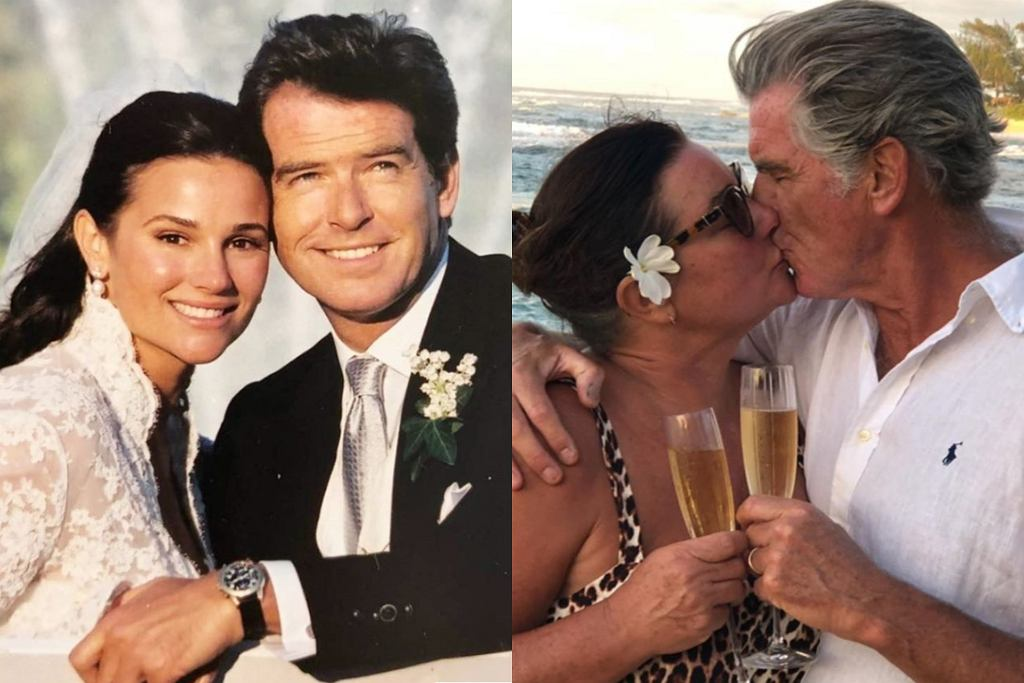 Pierce Brosnan z żoną