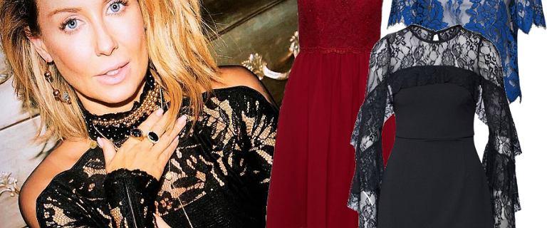 Koronkowe sukienki i bluzki idealne na imprezy: Rozenek stawia na seksowną czerń. Mamy więcej sexy ubrań!