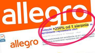 Podwyżki na Allegro? Wyjaśniamy