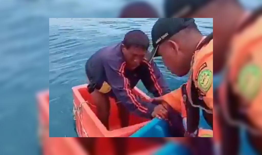 Indonezja. Rybak dryfował na morzu przez 3 dni w pojemniku na lód
