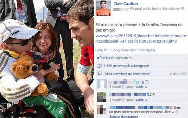 Dawid Zapisek i Iker Casillas.
