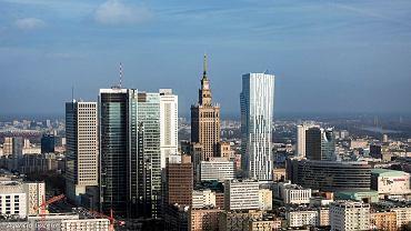 Warszawa - widok na centrum (zdjęcie ilustracyjne)