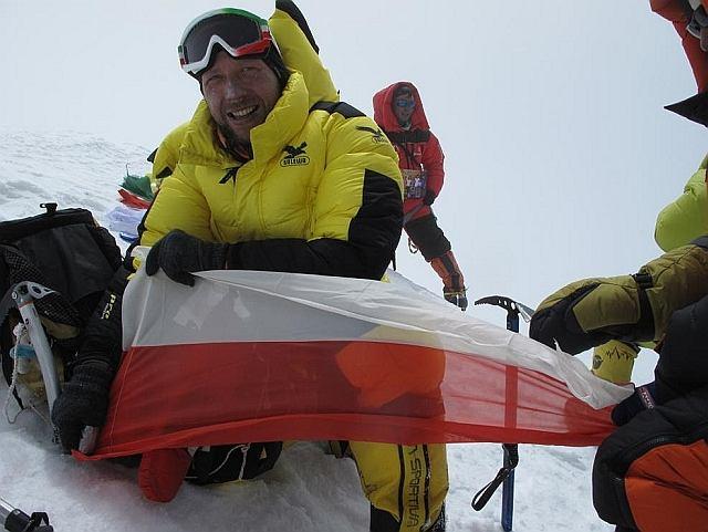 Paweł Michalski na szczycie Broad Peaku