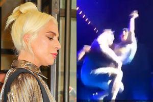 Lady Gaga spadła ze sceny