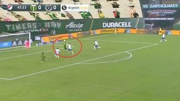 Jarosław Niezgoda pierwszy gol przeciwko San Jose Earthquakes w MLS. Źródło: Twitter (Portland Timbers)