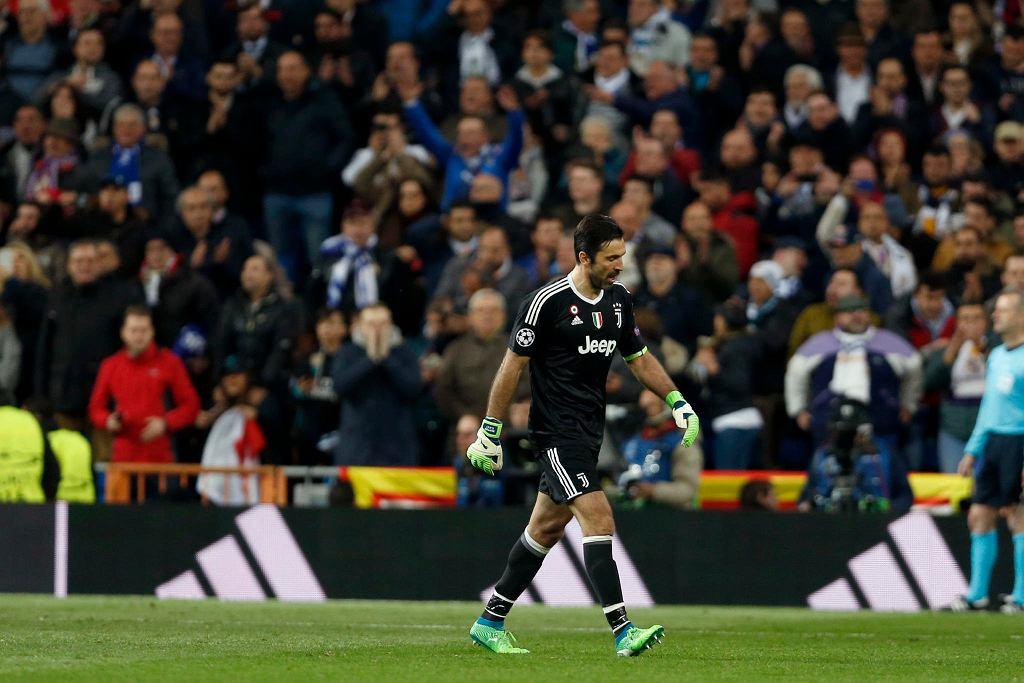 Gianluigi Buffon podczas meczu Realu Madryt z Juventusem Turyn
