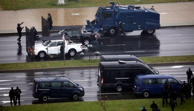 Protesty po sfałszowanych przez Łukaszenkę wyborach prezydenckich. Mińsk, 11 października 2020