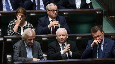 7.11.2018, posłowie PiS w ławach sejmowych.
