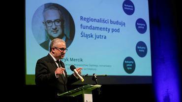 Pierwszy kongres Śląskiej Partii Regionalnej w Katowicach. Na zdjęciu Henryk Mercik