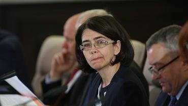 Minister cyfryzacji Anna Streżyńska podczas posiedzenia Rady Ministrów