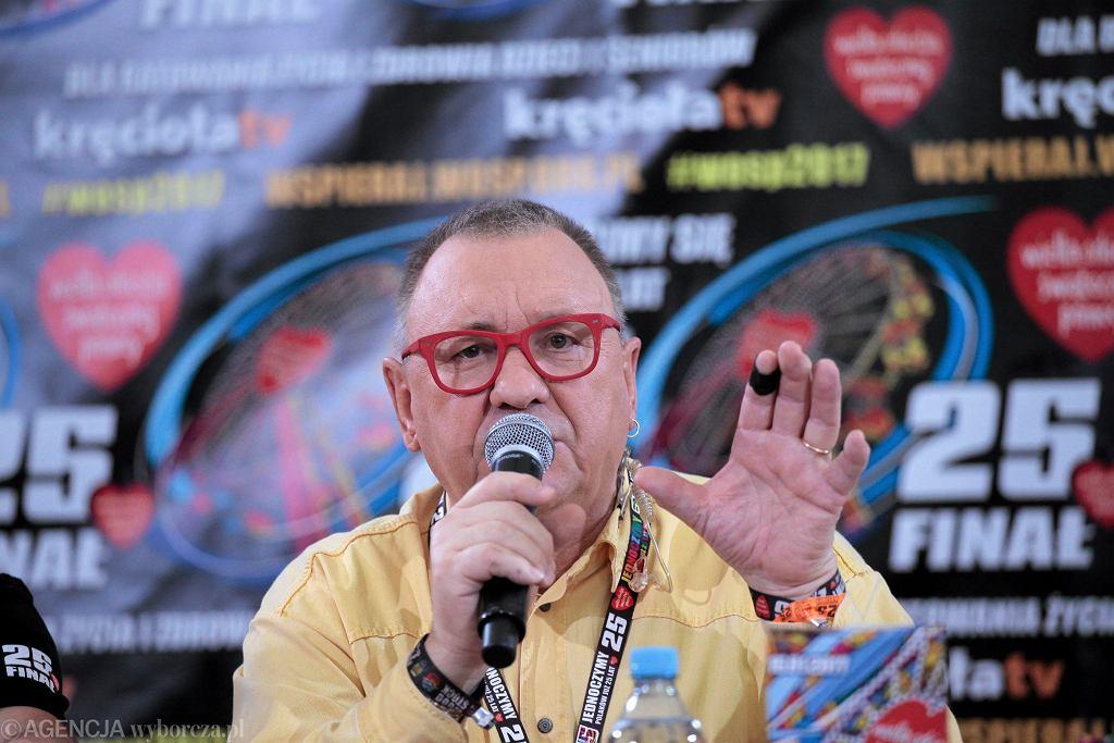 Jerzy Owsiak podczas finału WOŚP 2017