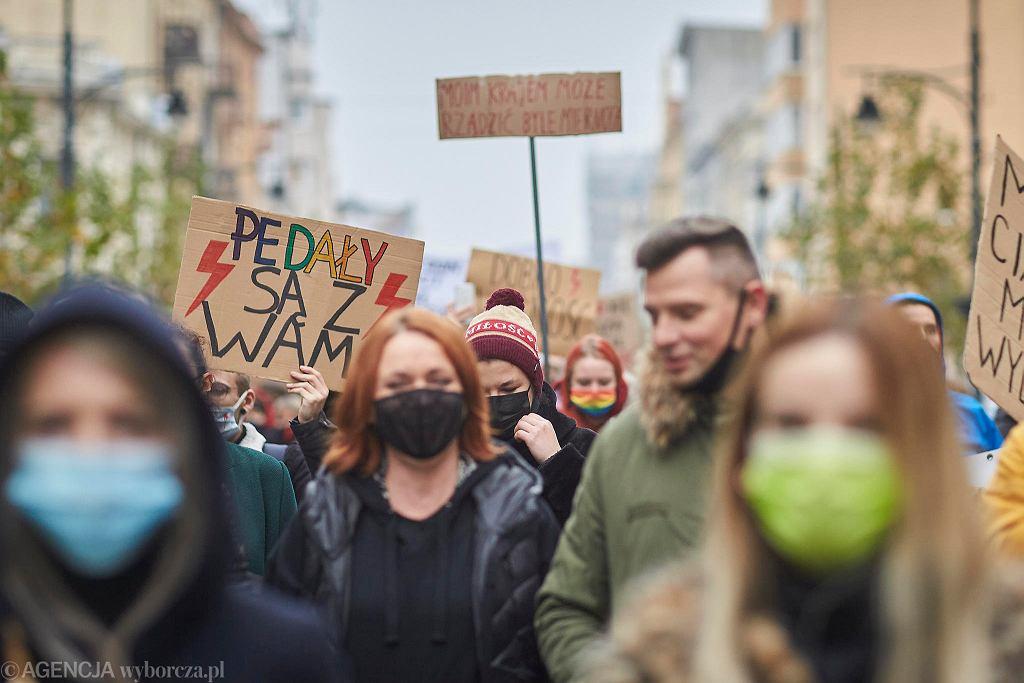 Strajk Kobiet w Łodzi, w sobotę 7 listopada
