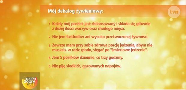 Sylwia Bomba - dekalog żywieniowy