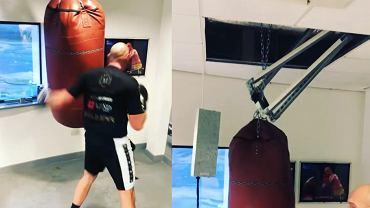 Tyson Fury podczas jednego z treningów bokserskich. Źródło: Instagram (Tyson Fury)