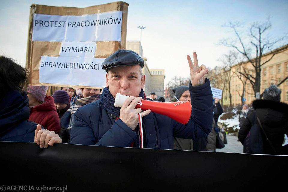 7.02.2019 Protest pracowników sądów w Łodzi
