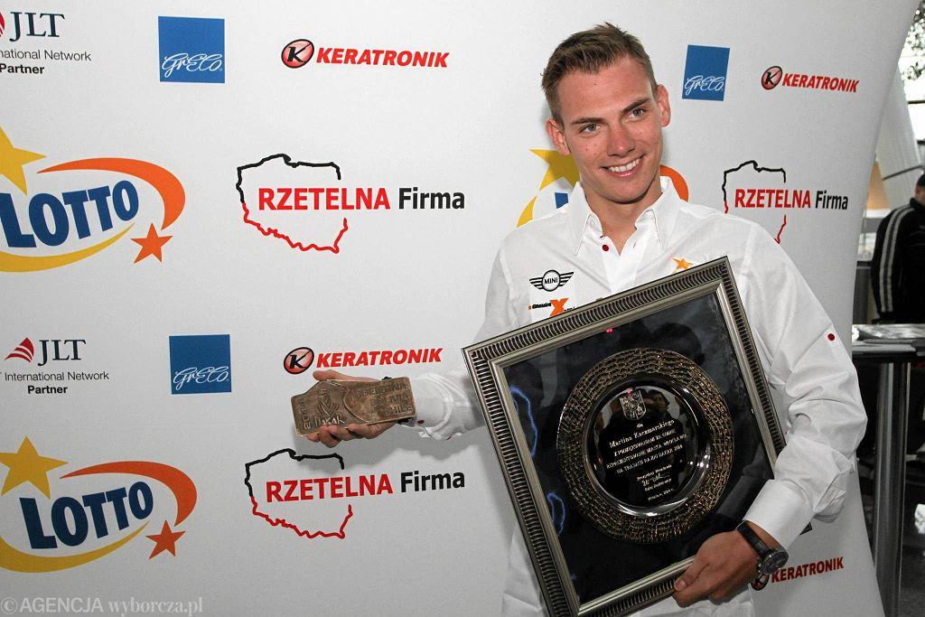 Martin Kaczmarski po powrocie z Rajdu Dakar - 2014 r.