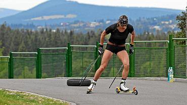 Justyna Kowalczyk podczas treningu w Zakopanem