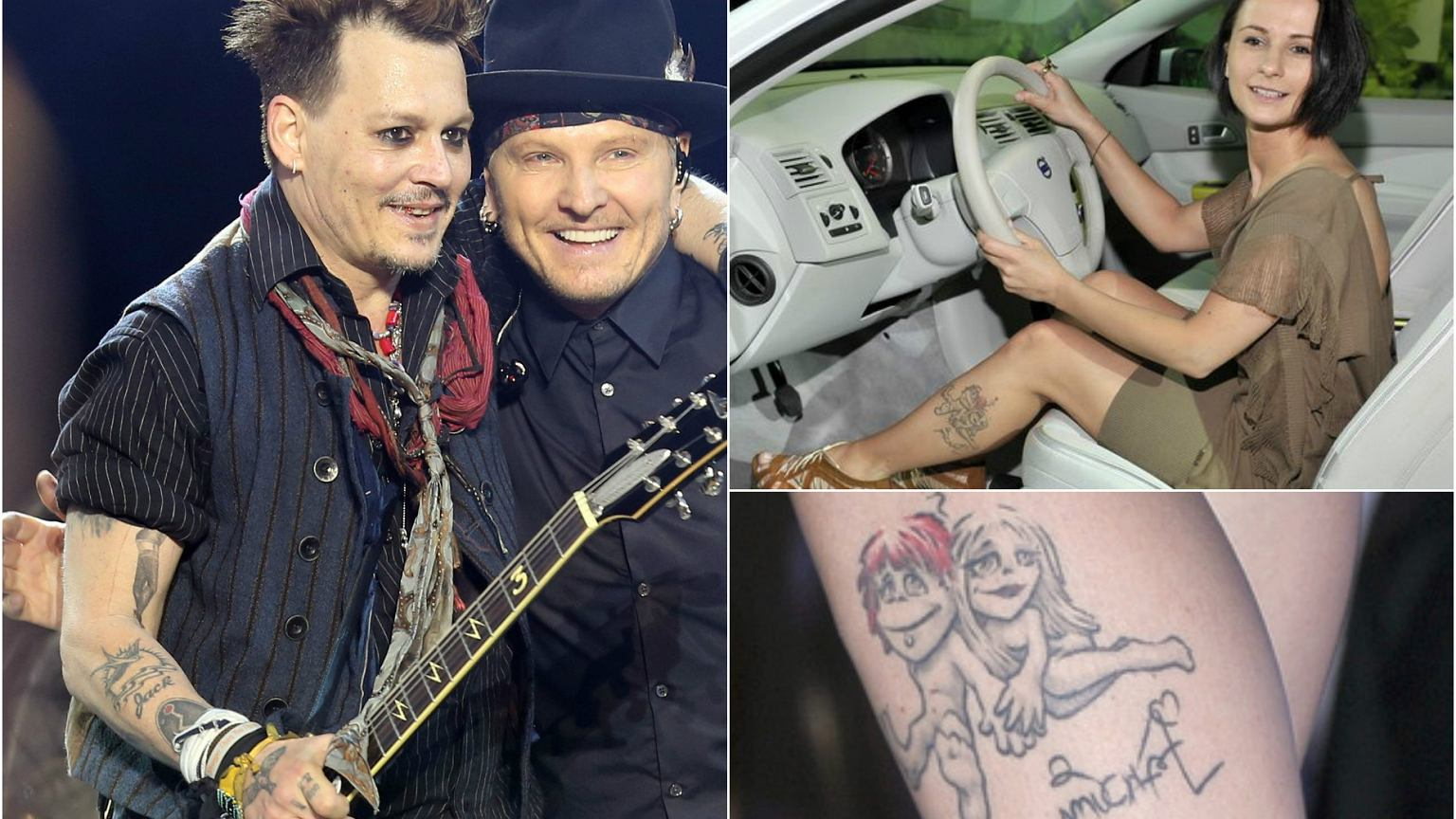 Johnny Depp Przerobił Tatuaż Który Zrobił Dla Amber Heard
