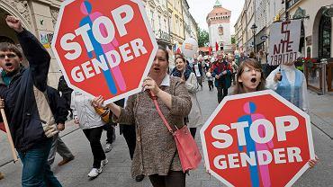 Protest 'stop gender'