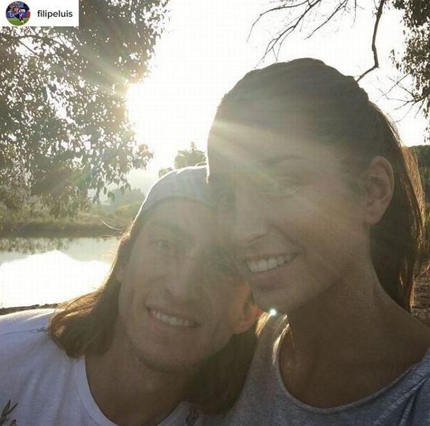 Filipe Luis Kasmirski z żoną
