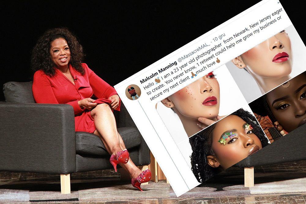 Oprah przeczytała wpis i zaproponowała fotografowi pracę