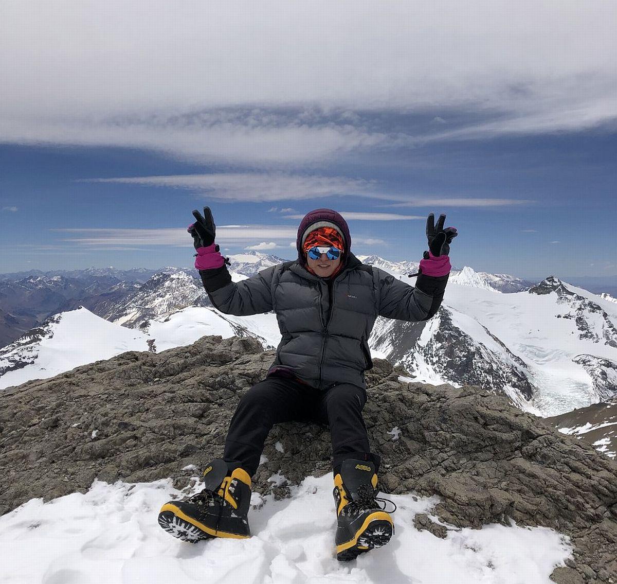Magdalena Piątkowska podczas górskiej wyprawy