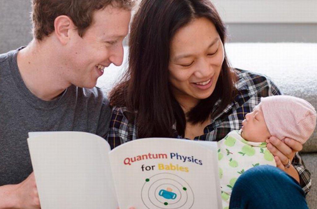 Mark Zuckerberg z żoną i córką