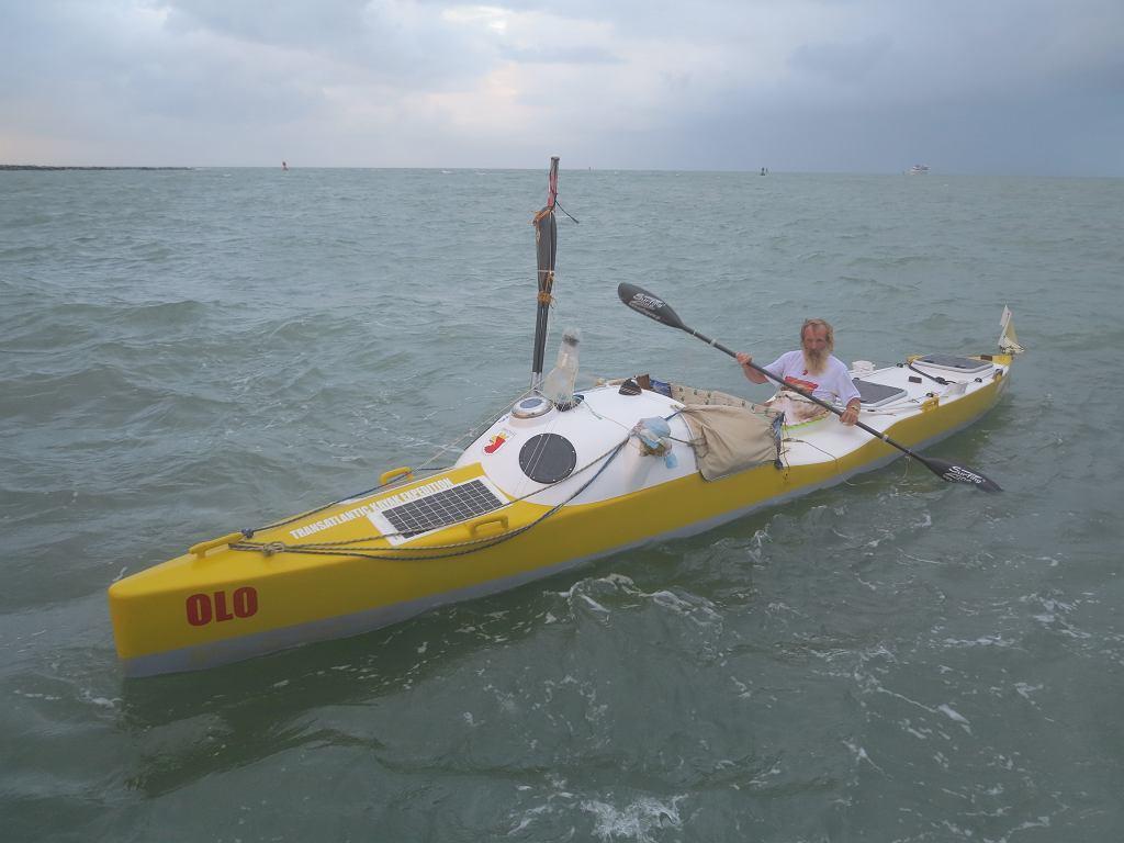 Aleksander Doba na Oceanie Atlantyckim przed wpłynięciem do portu Cape Canaveral na Florydzie
