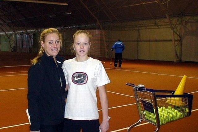 Angelika Kerber i Anastazja Szoszyna