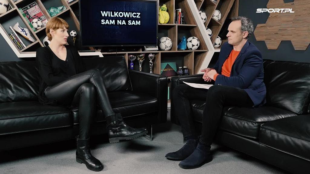 Magdalena Piekarska w 'Wilkowicz Sam na Sam'