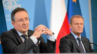 Bartłomiej Sienkiewicz i Donald Tusk