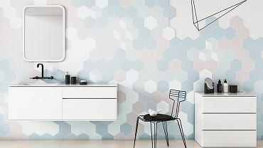 Płytki łazienkowe heksagonalne
