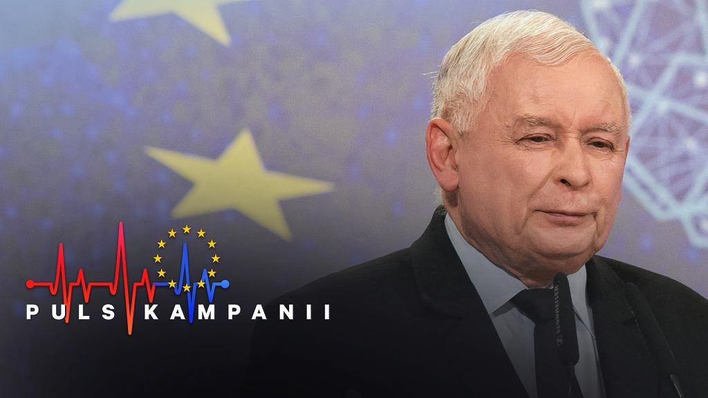 Jarosław Kaczyński podczas konwencji w Lublinie.