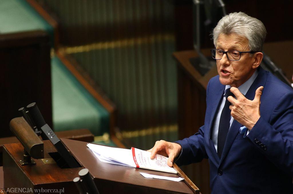 Poseł Stanisław Piotrowicz - PiS podczas pierwszego czytania rządowego projektu ustawy o Krajowej Radzie Sądownictwa