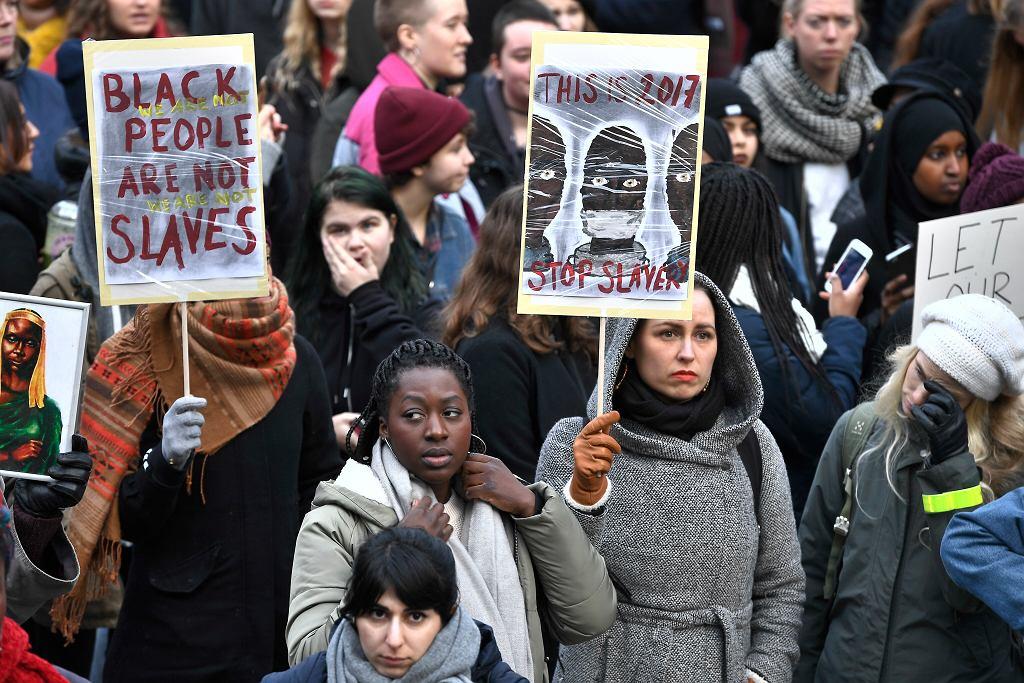 Szwecja. Protest przeciwko handlowaniu ludźmi w Libii