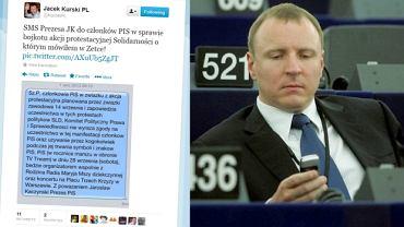 Jacek Kurski ujawnił sms-a od Kaczyńskiego ws. demonstracji ''Solidarności''