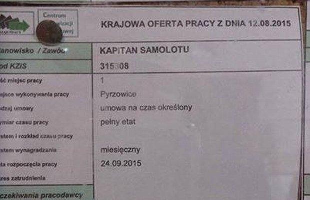 Ogłoszenie w PUP w Katowicach