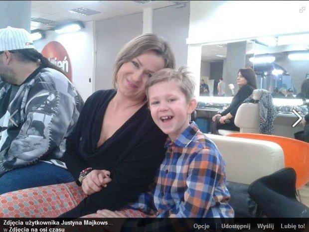 Justyna Majkowska z synem