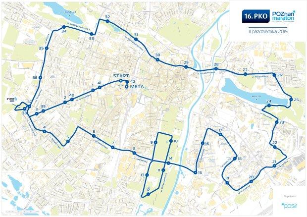 Trasa 16.PKO Poznań Maraton